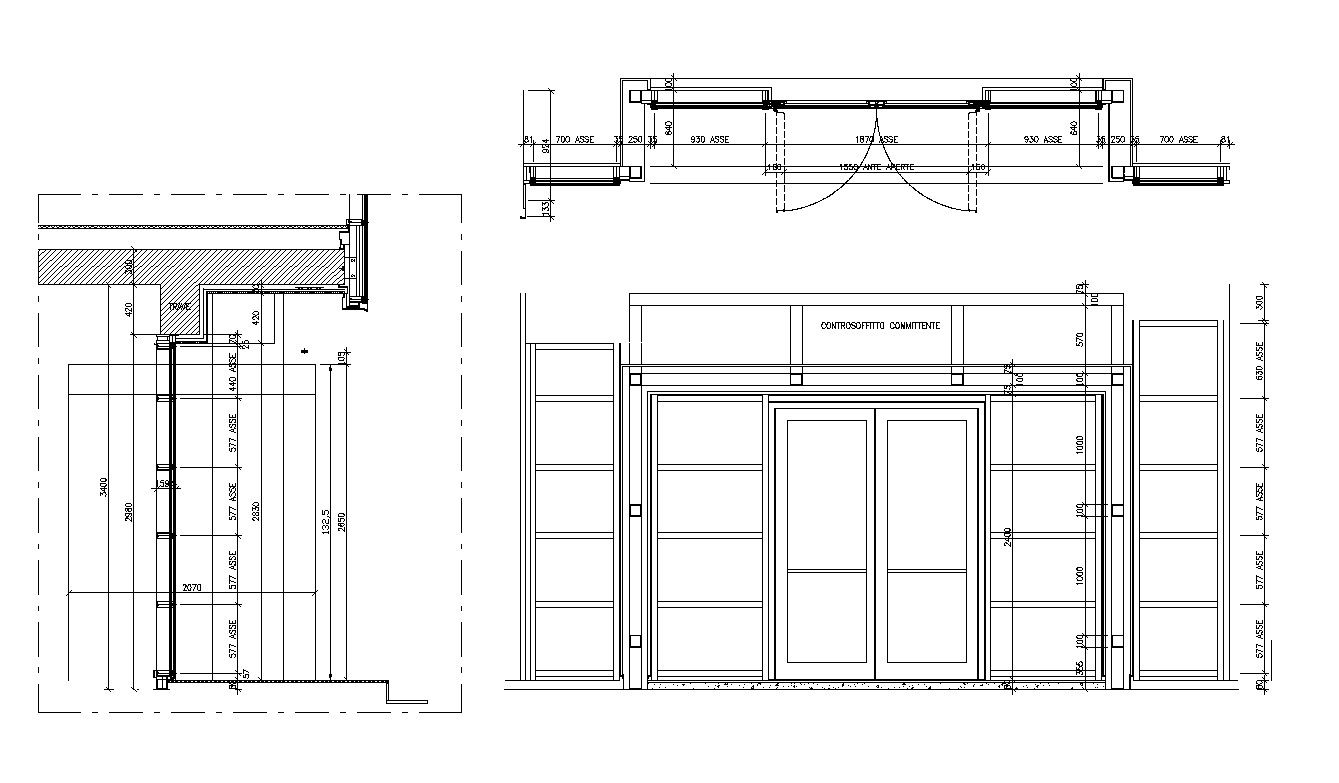 Free Entrance Door Details Cad Design