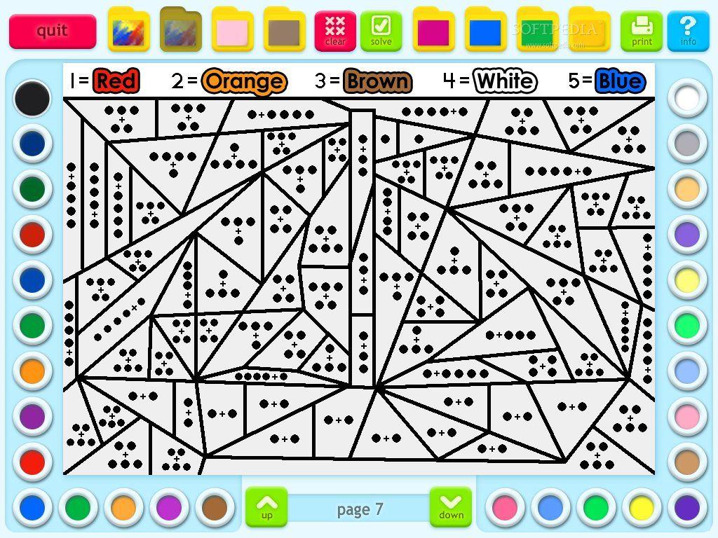 Color By Number Division Worksheet 2nd Grade
