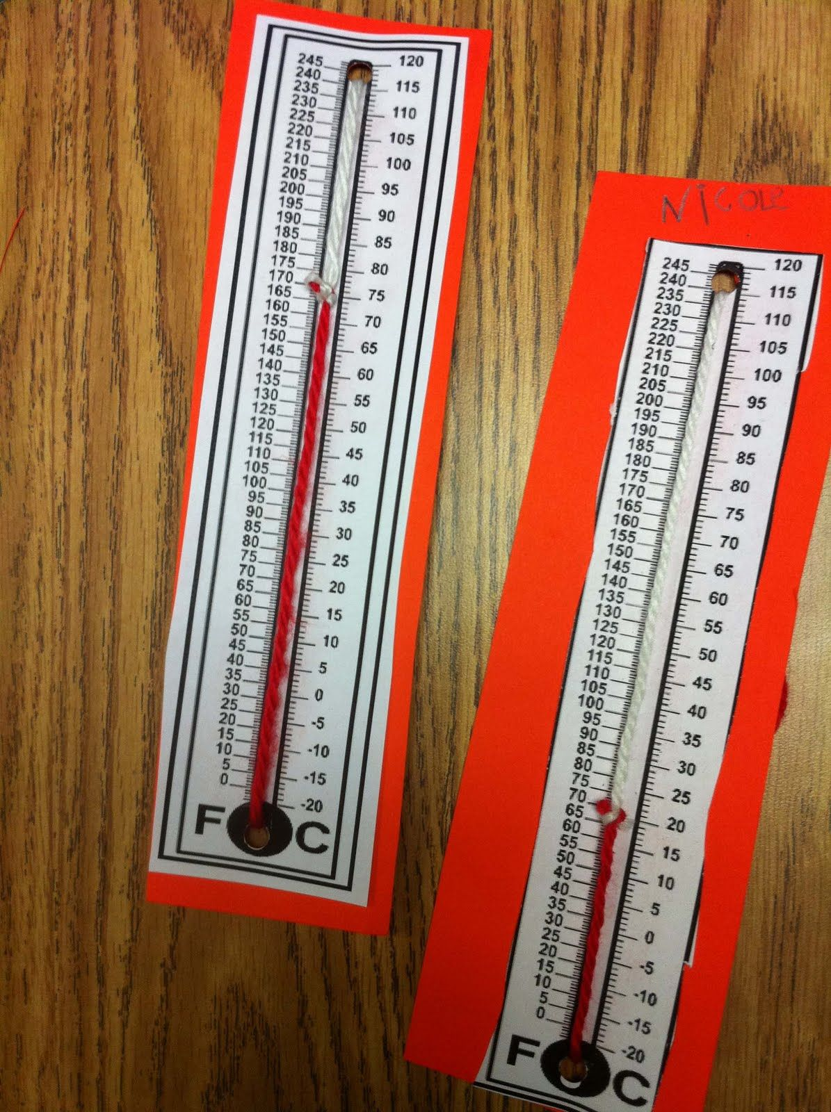 We Started Our Weather Unit Make Movable Thermometers With Yarn