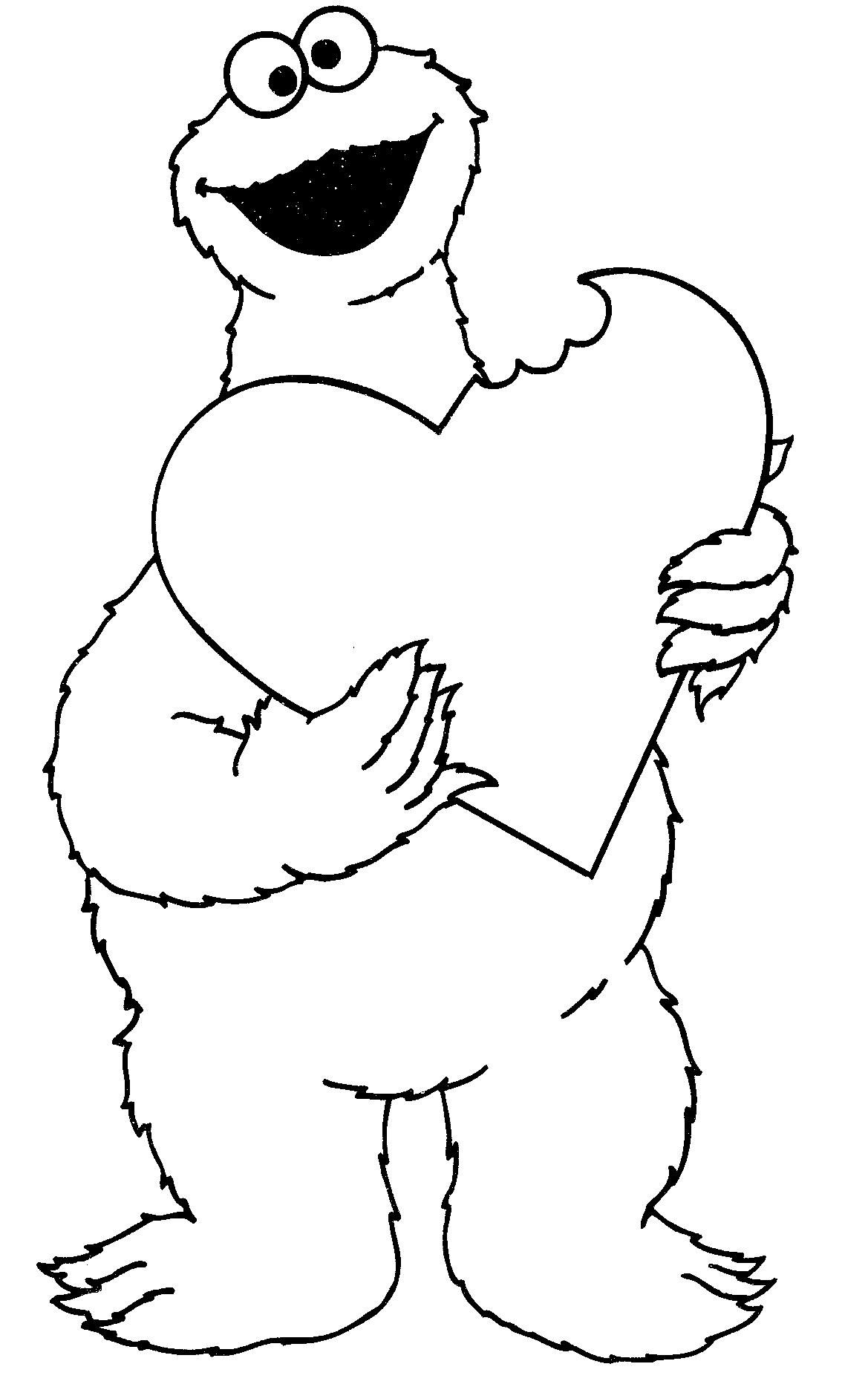 Sesame Street Valentine Coloring Pages
