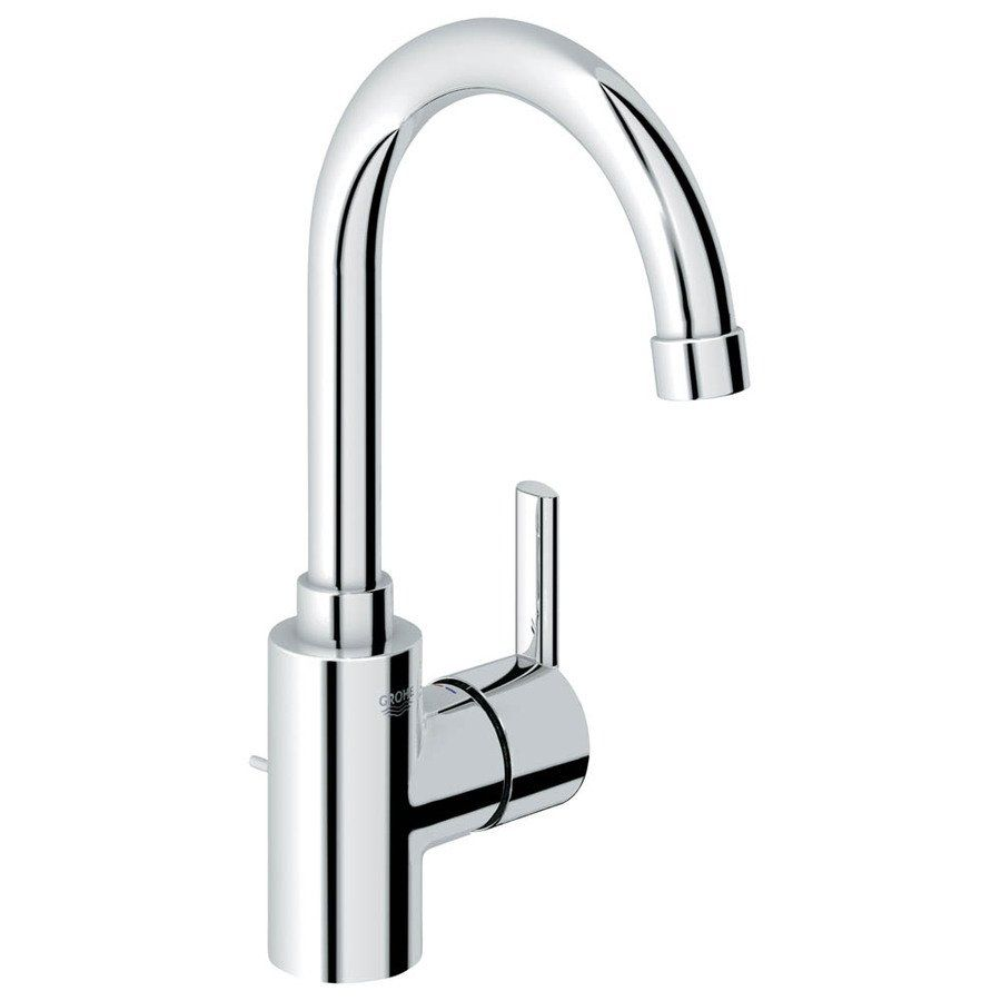 grohe 23173000 feel starlight chrome 1-handle single hole bathroom