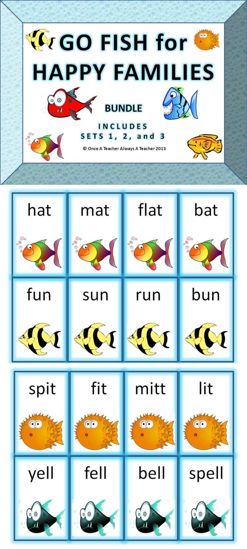 Go fish for happy families 3 set bundle fun