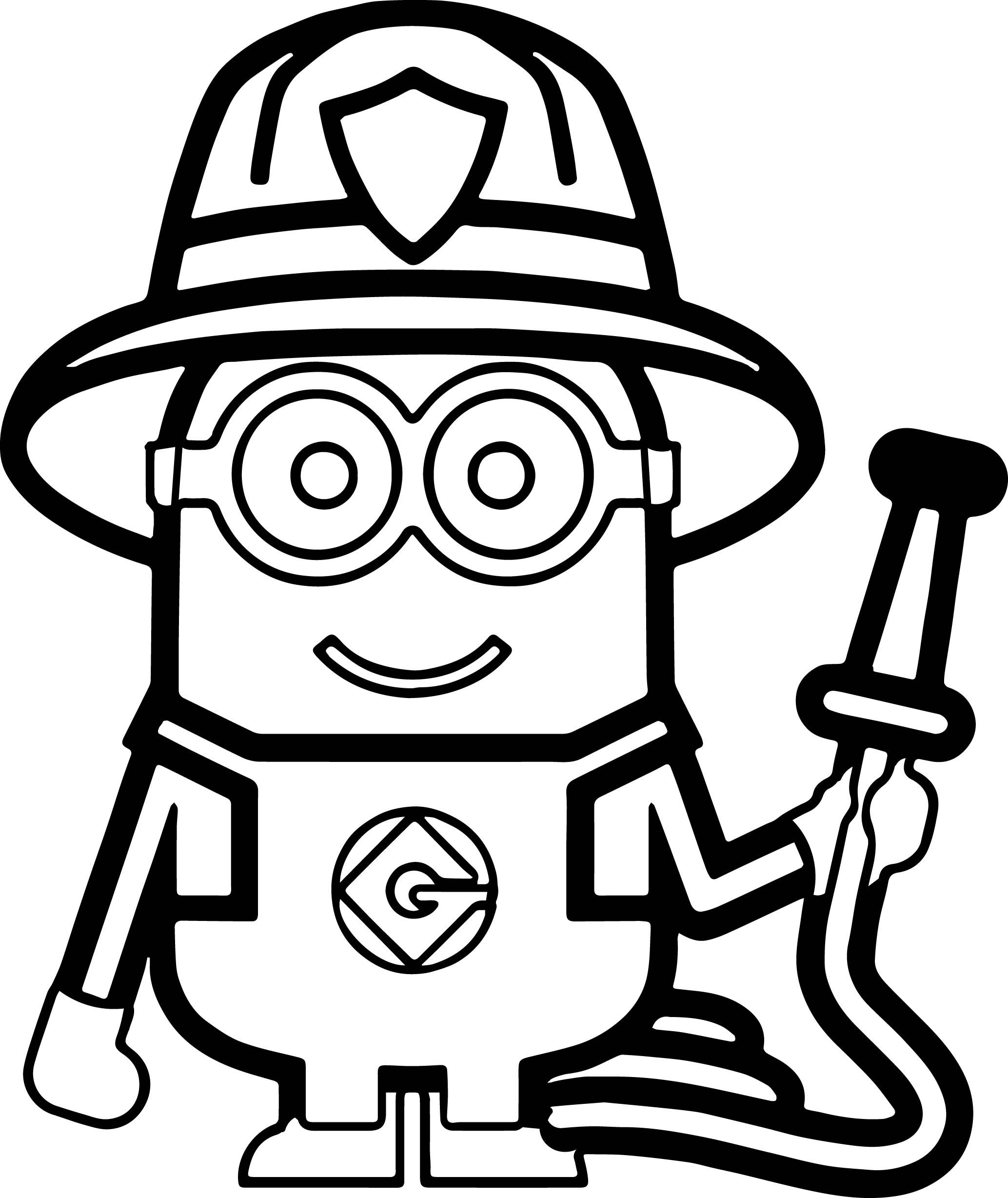 Minions Fireman Coloring Page More Pins Like This One At