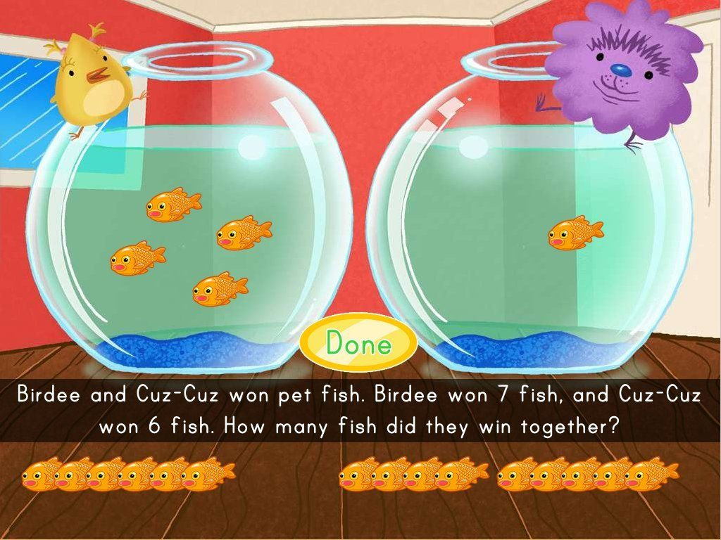 Kids Help Birdee And Cuz Cuz Count Up All The Fish They