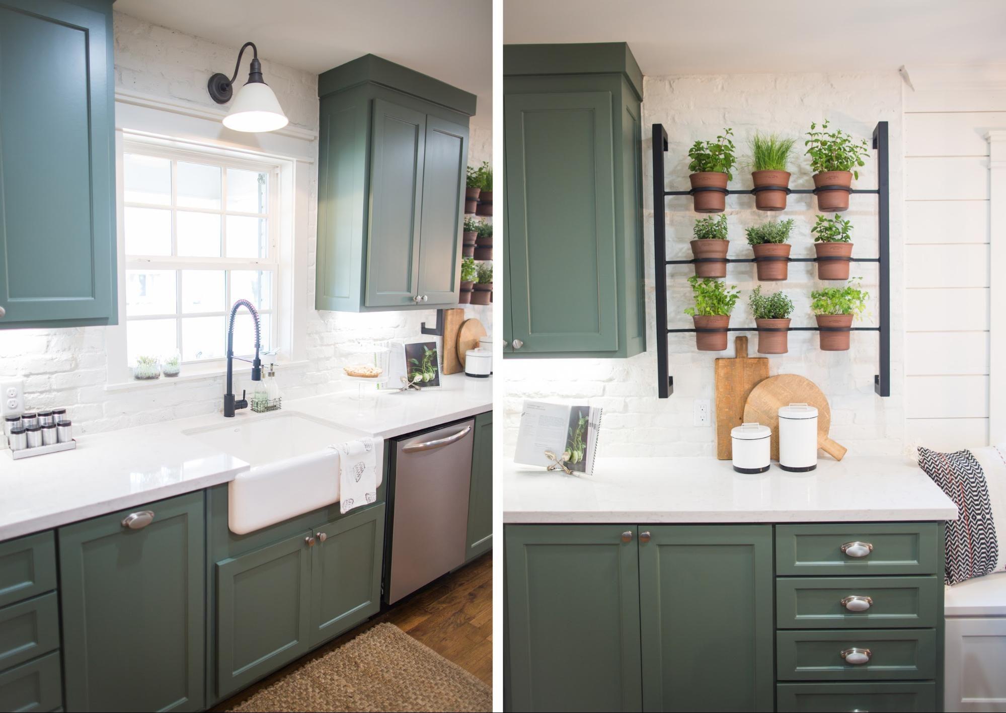green cabinets fixer upper kitchen pinterest faucet sinks and kitchens on kitchen cabinets upper id=24587