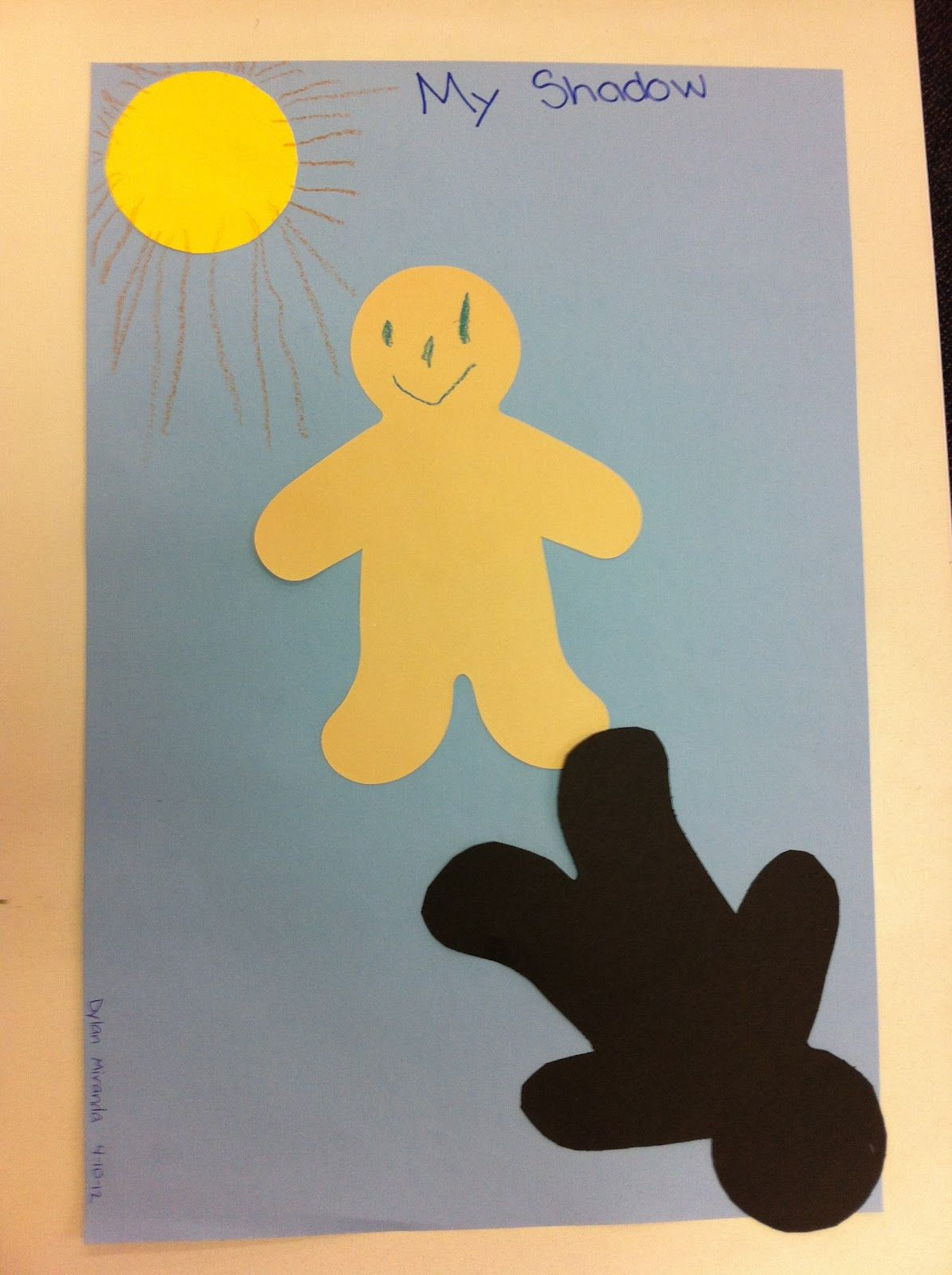 Shadow Craft For Preschool And Kindergarten Students