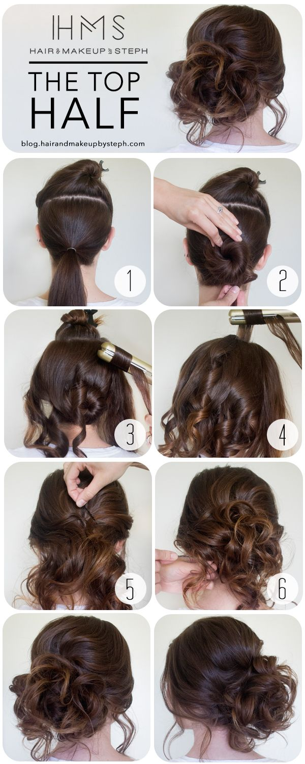 How To The Top Half Hair style Prom and Prom hair