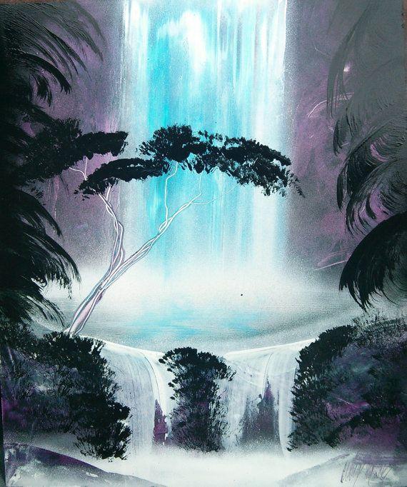 Jungle Waterfall - Spray Paint Art ( TO CHCI DOMŮ :3 ...