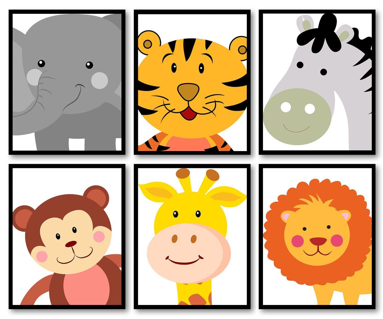 African Africa Animals Kids Children Art Nursery Print