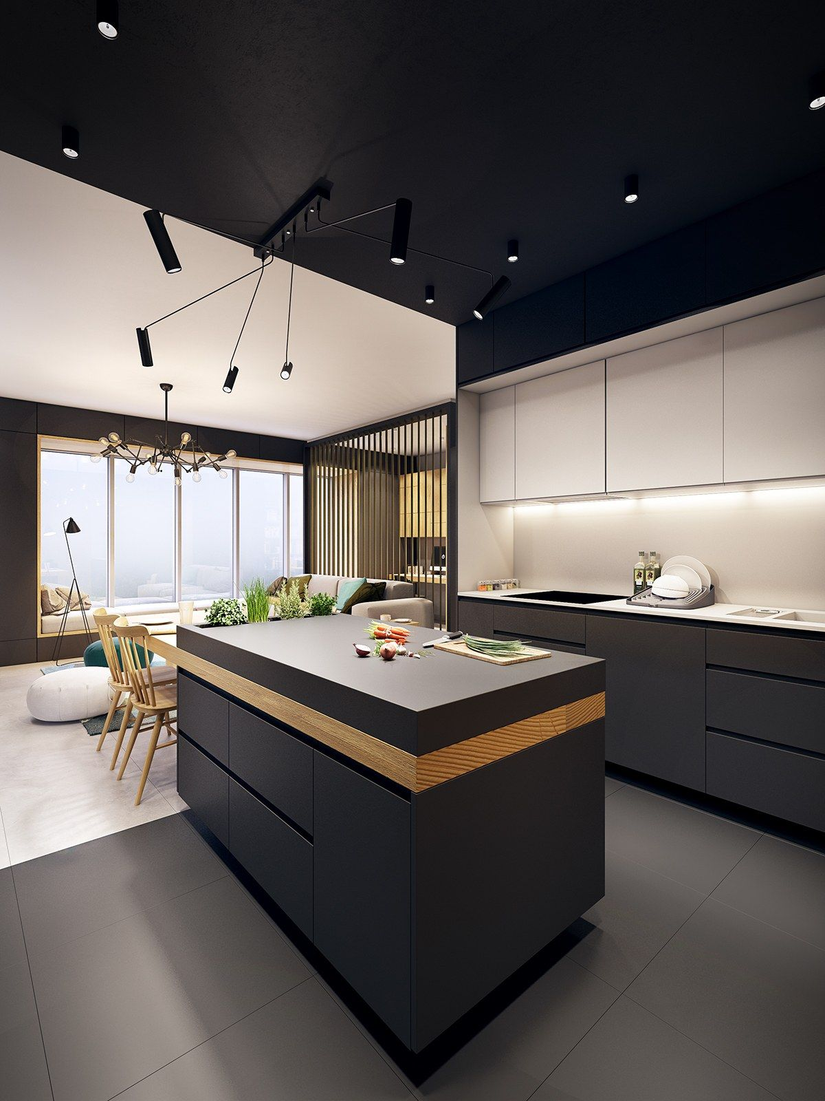 this contemporary apartment pops with turquoise accents kitchen designs pinterest madeira on kitchen decor themes modern id=36212