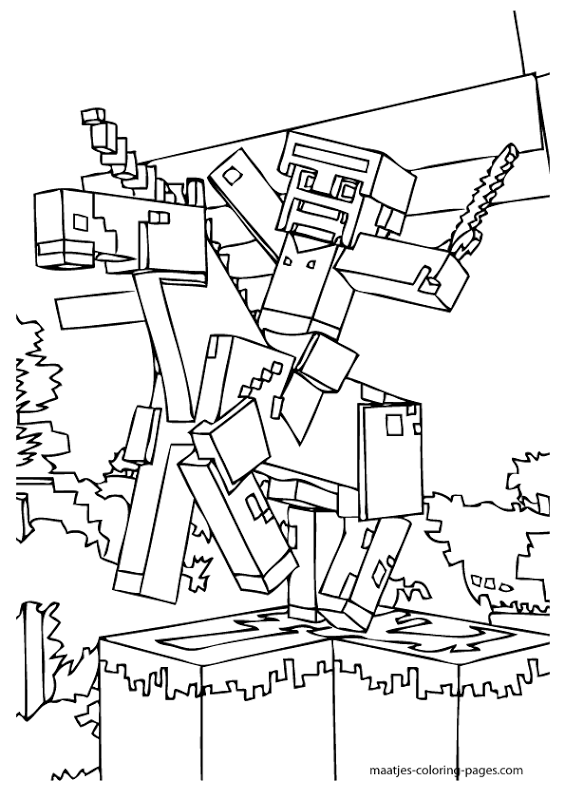 Minecraft Free Printables Excellent Coloring Pages Title