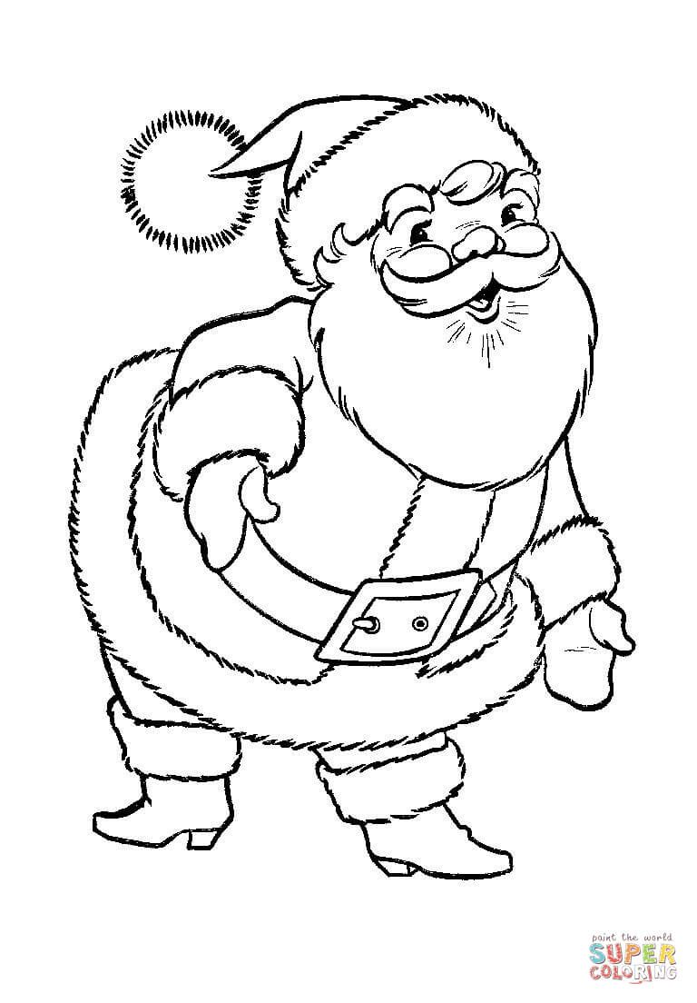 A Great Big Santa Claus Coloring Page 768×1 104 Pixels