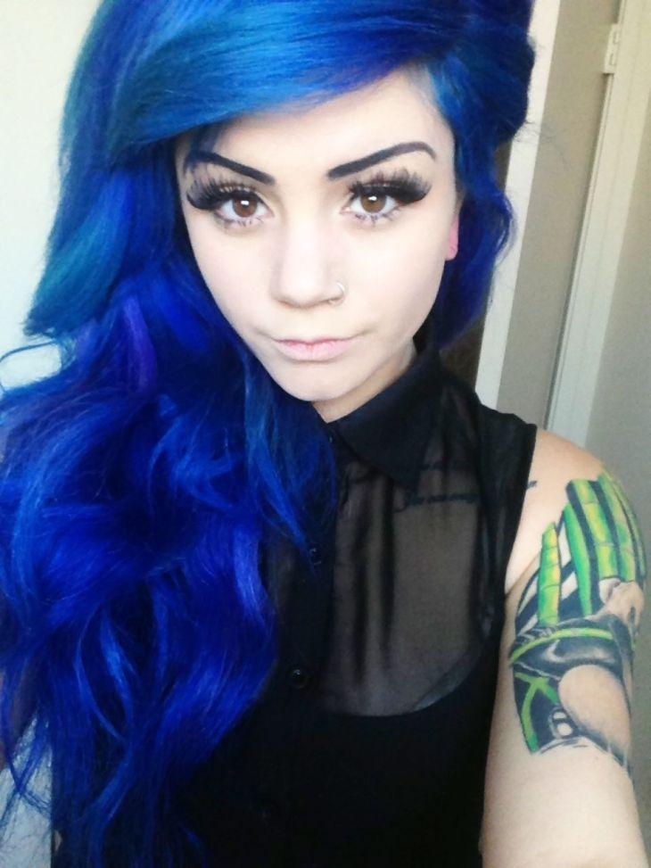 Pin by Jasmine Perez on u dream hairu Pinterest Bright Blue