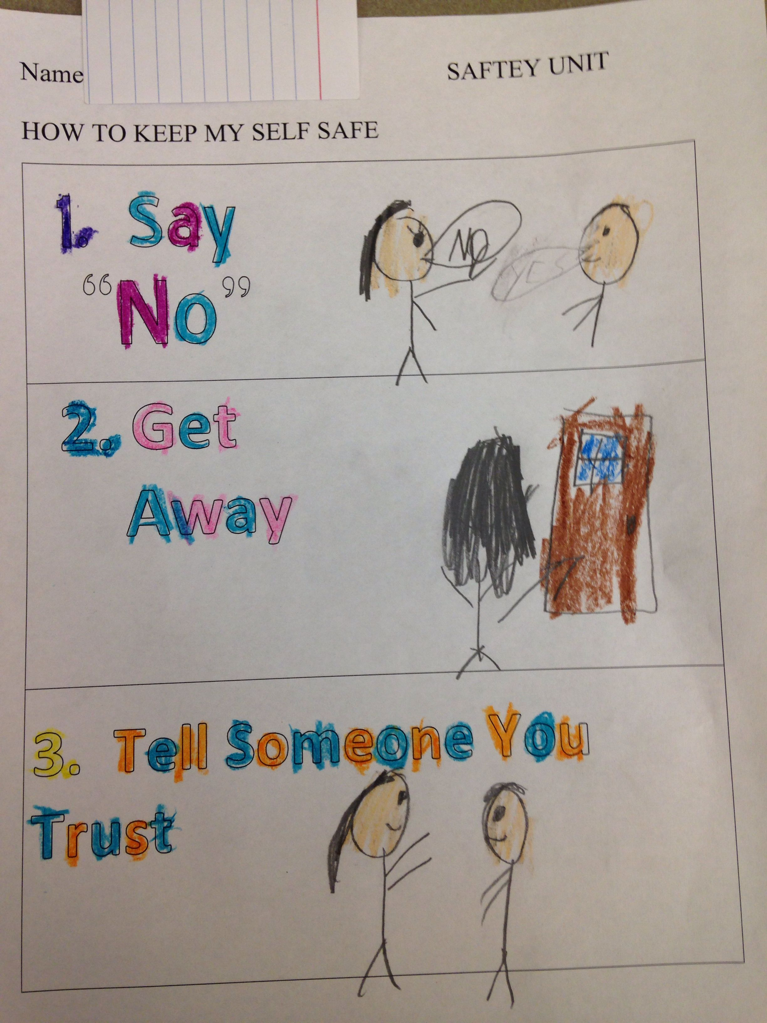Worksheets From The First Lesson In My Safety Unit We