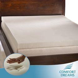 Comfort Dreams Ultra Soft 4 Inch Memory Foam Mattress Topper Twin Xl Black Night