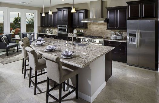 Residence 3 New Home Features Las Vegas Nv Pulte Homes Builders Dark Kitchen Cabinetsnew