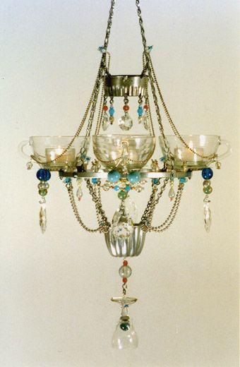 Teacup Chandelier By Madeleine Boulesteix