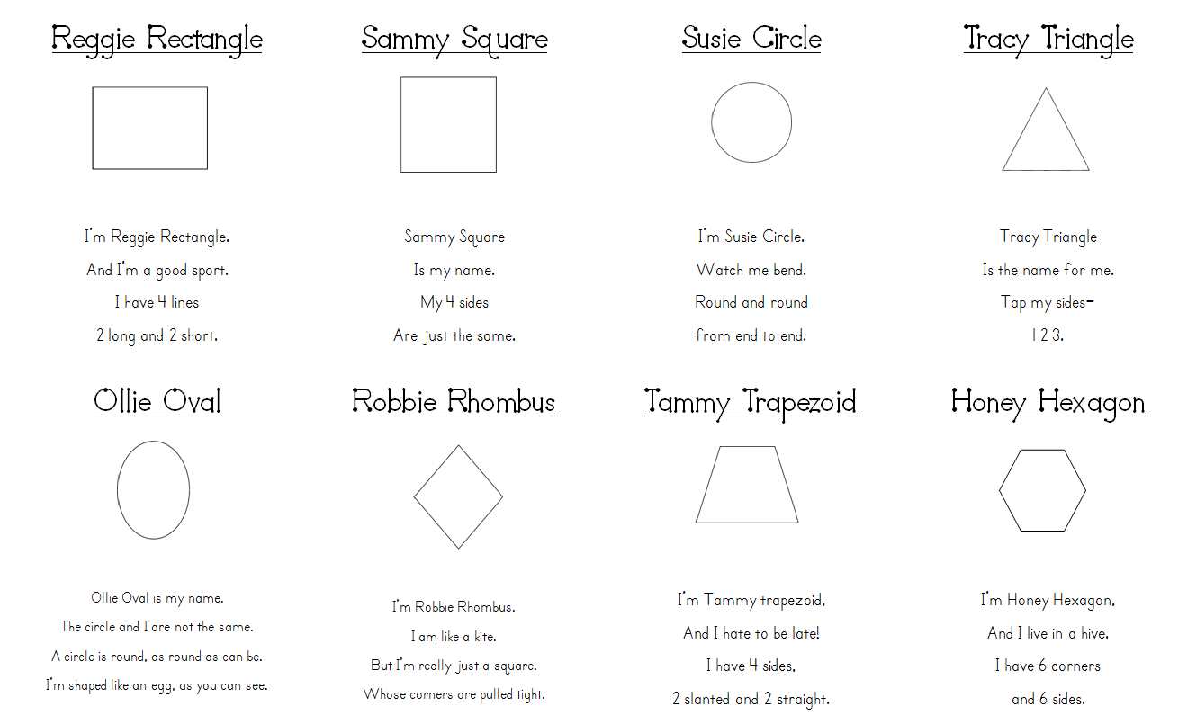 Shape Poems We Are Reviewing 2 Dimensional Shapes This Week And I Thought These Would Be Great
