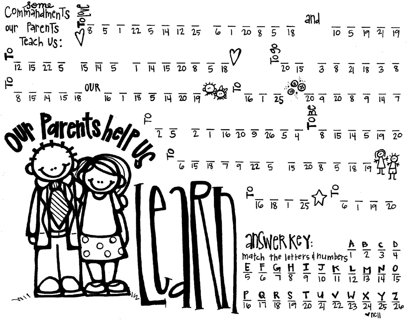 Melonheadz Lds Illustrating Parents Help Us Learn Handout In Code
