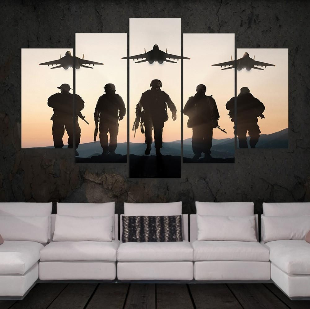 us army soldiers wall art multi panel canvas american on canvas wall art id=25547