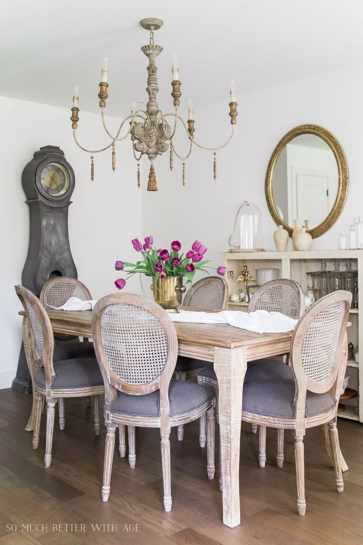 French Vintage Dining Room  Before and After  French vintage Room