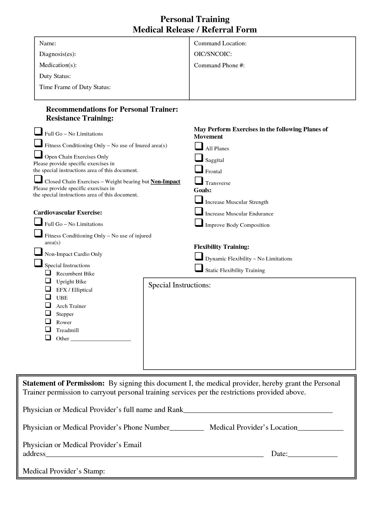 Salon Client Release Form Template Bagnas