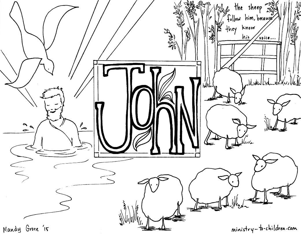 This Free Coloring Page Is Based On The Gospel Of John It