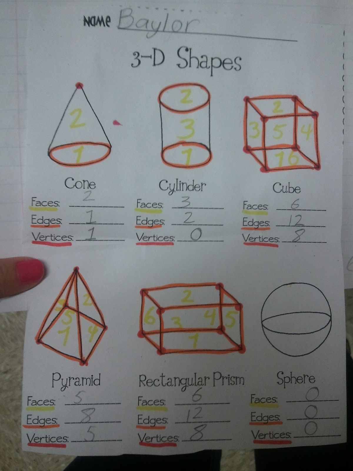Teaching With Class Formerly Missthirdgrade 3d Shapes Vertices Faces Amp Edges Simon Says