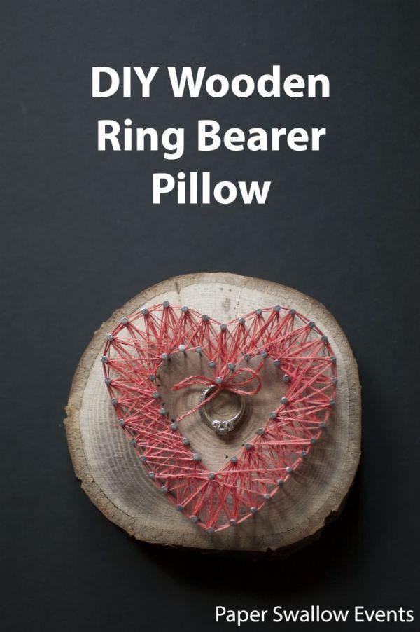 DIY Wooden Ring Bearer Pillow | Rustic ring bearers