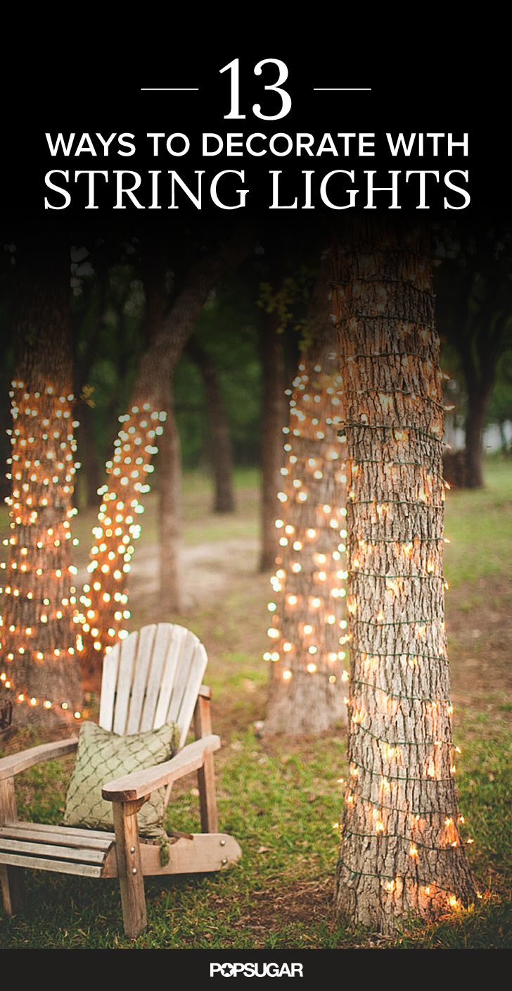 how do you hang string lights in your backyard without trees