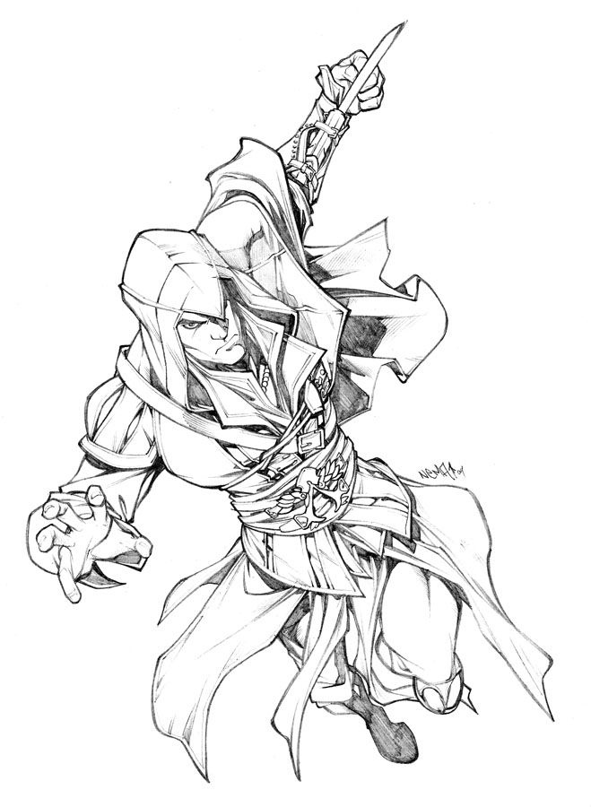 assassin's creed game coloring pages for kids  projects