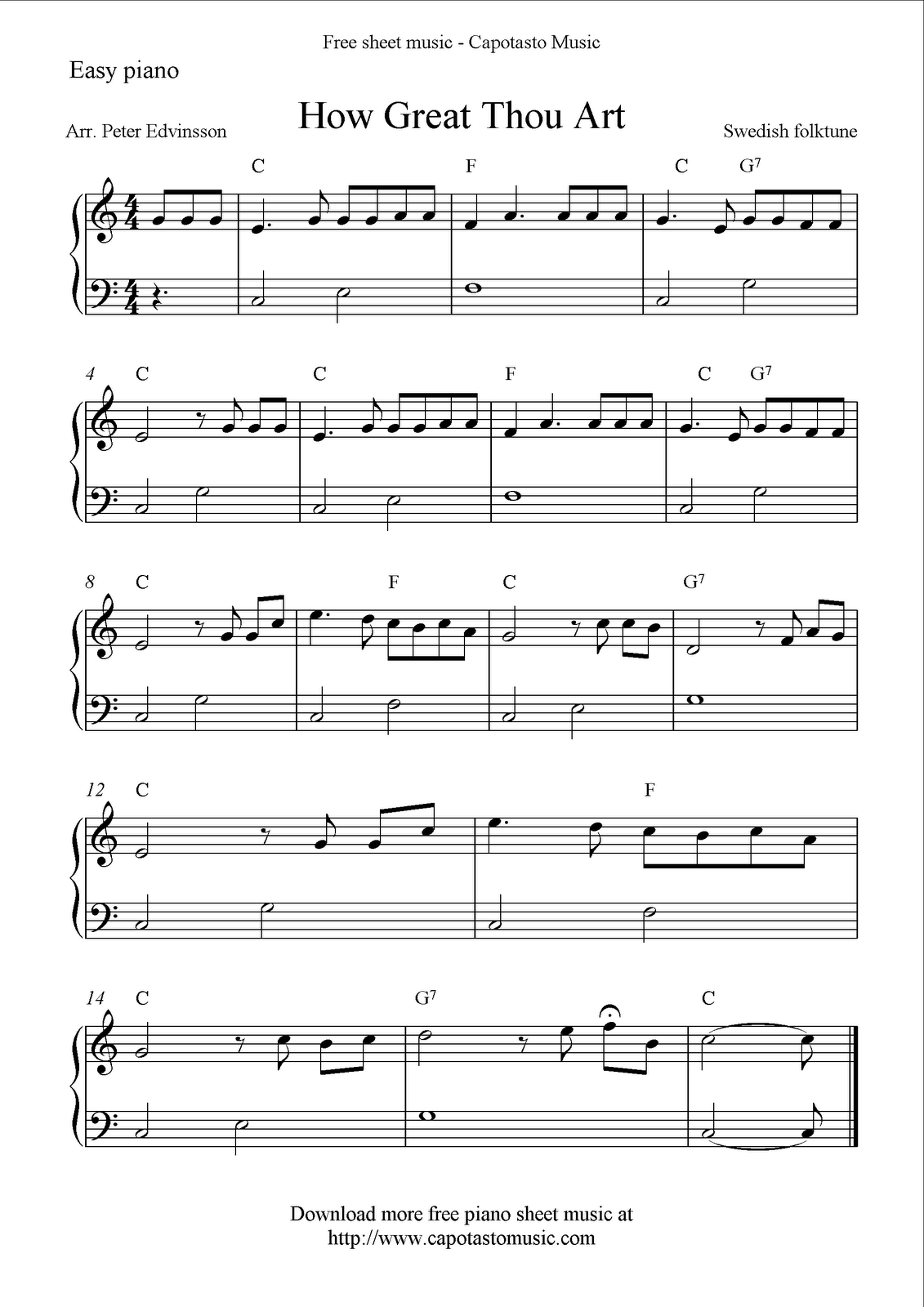 Download Printable Free Easy Sheet Music Scores Guitar Tablature And Videos You Will Also Find