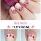 Floral nail art tutorial by paulinaus passions uñas pinterest