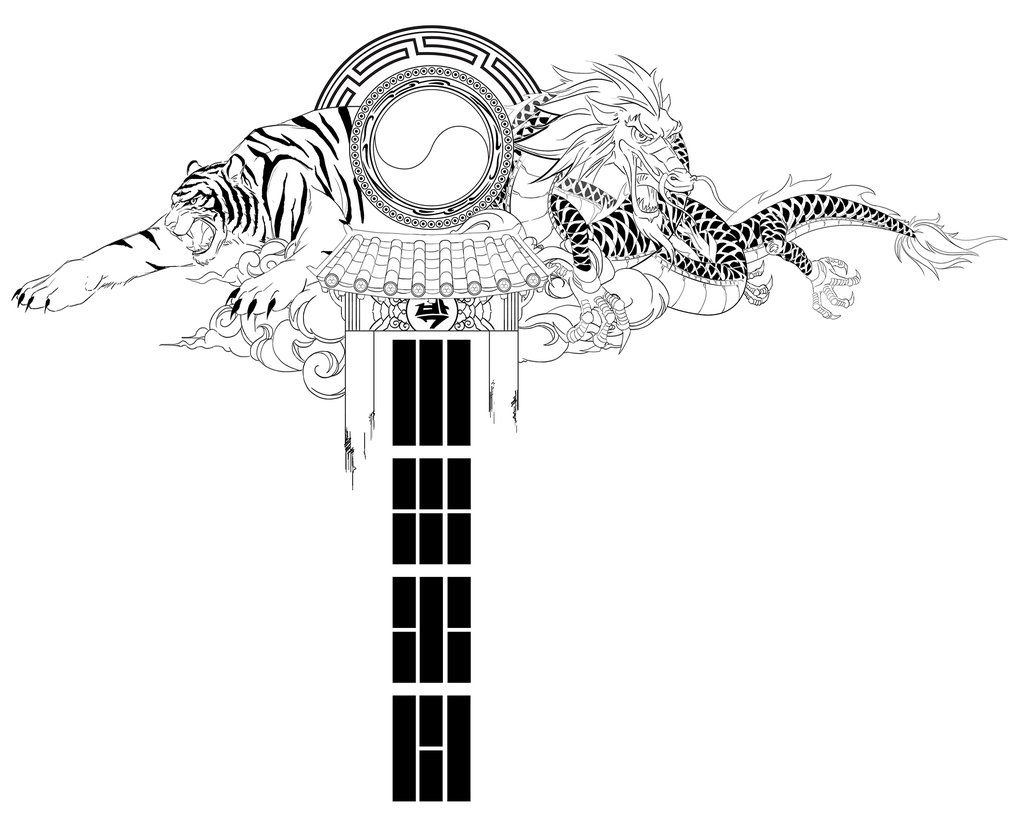 Traditional Korean Tattoo Back Piece