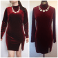 Gypsy rose red velvet long sleeve dress sz m velvet red dress with