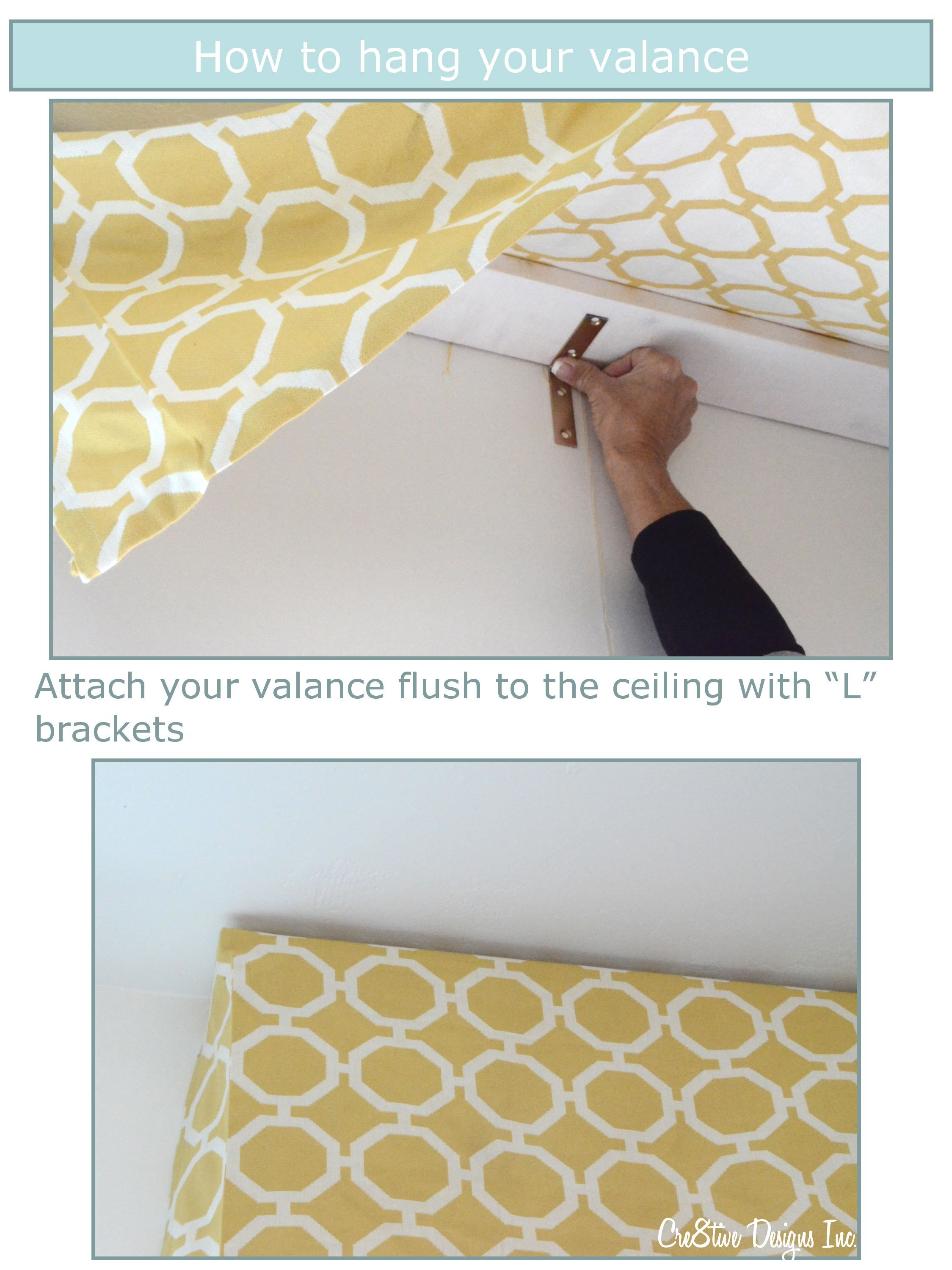 Great Directions On How To Hang A Valance Including The