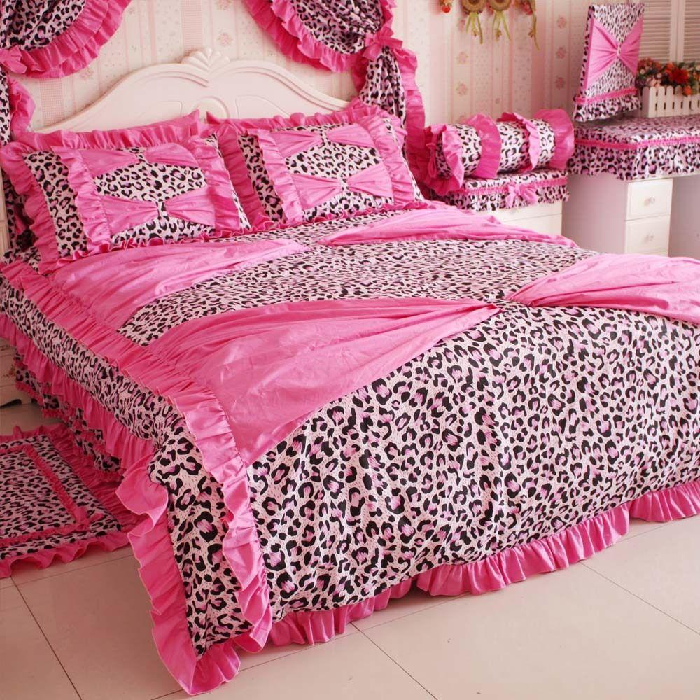 Super Dream Leopard Printed Bedding Set 4 Piece Set