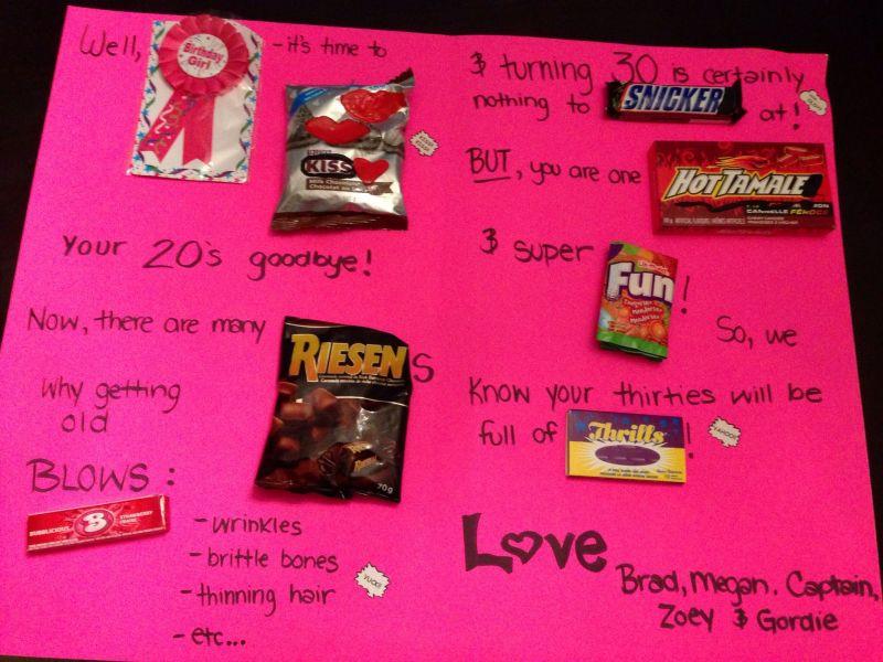 30th birthday card birthday gift ideas pinterest