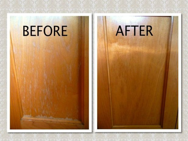 How to clean old wood kitchen cabinets for Best cleaning solution for greasy kitchen cabinets