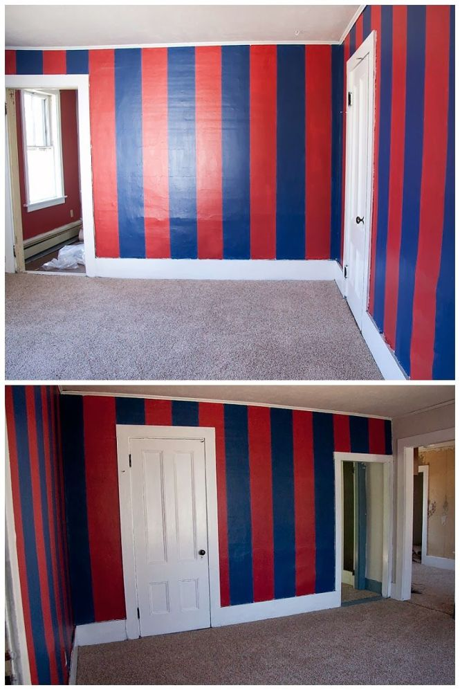 Race Chase Blog Barcelona Soccer Bedroom Before And After How To Paint Stripes