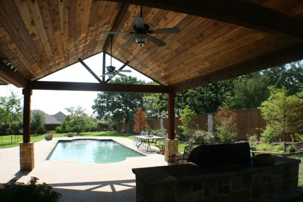 covered outdoor kitchens and patios Covered Outdoor Kitchens | The covered patio houses the