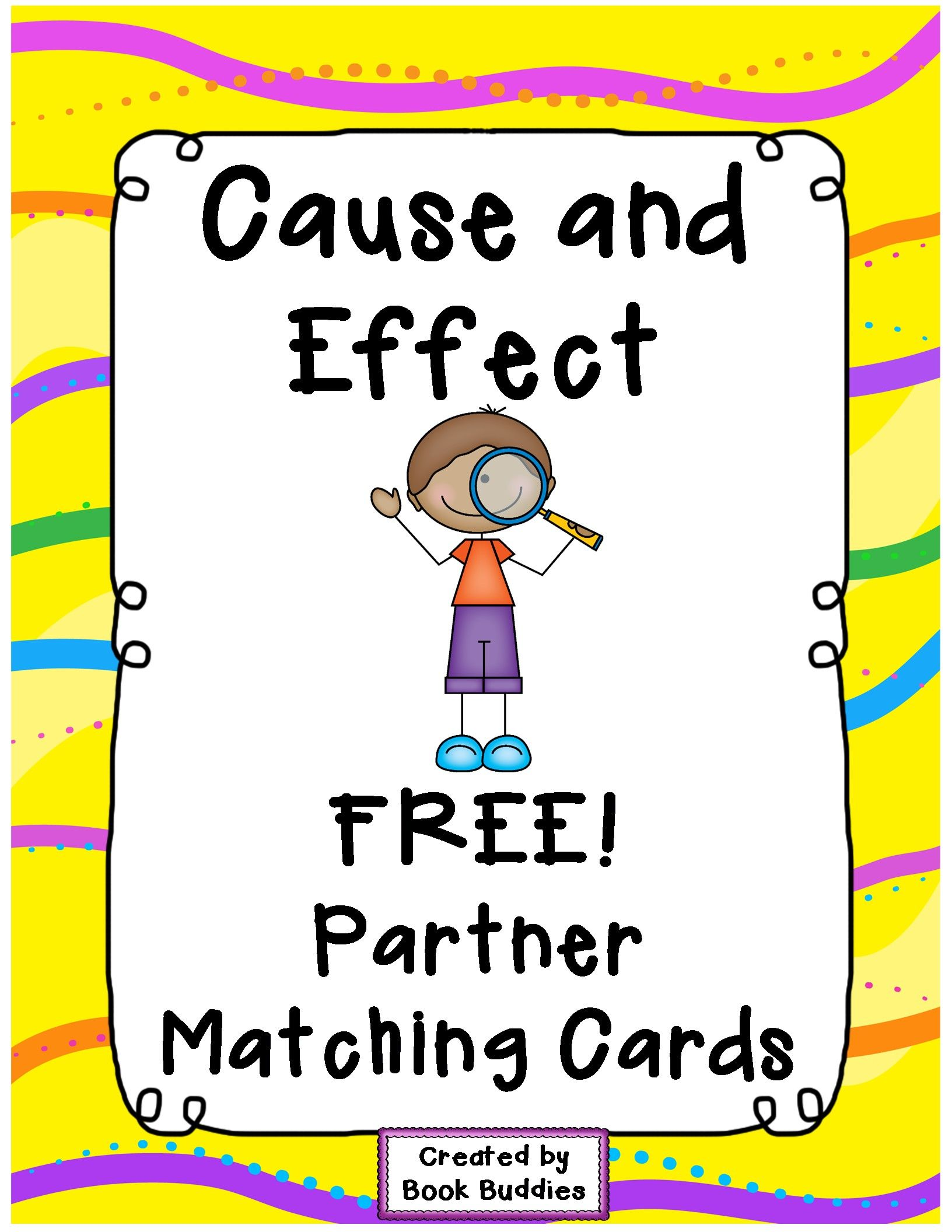 Free Cause And Effect Matching Partner Cards With Thanks
