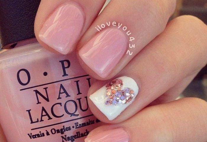 Uñas Decoradas De Rosa Pink Nail Art Nails Pinterest