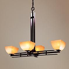 Lineage Collection Mission 19 Wide Four Light Chandelier Craftsman