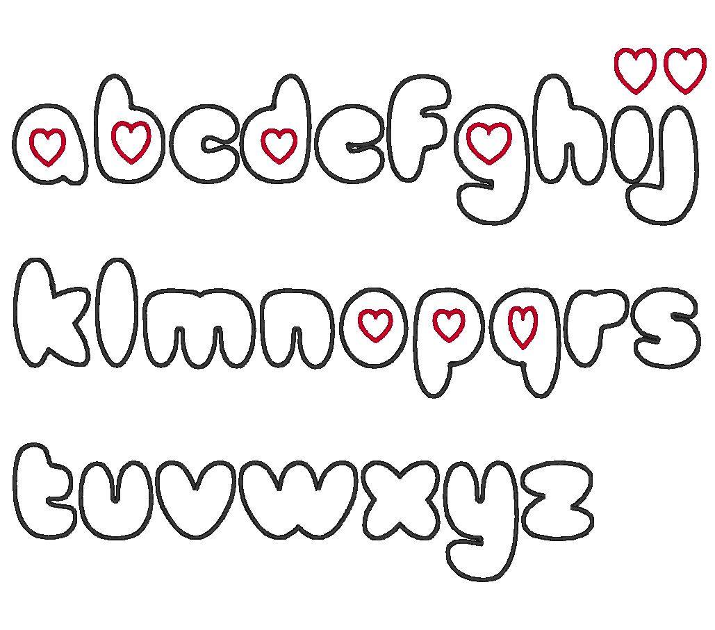 Cute Bubble Letter Fonts Alphabet