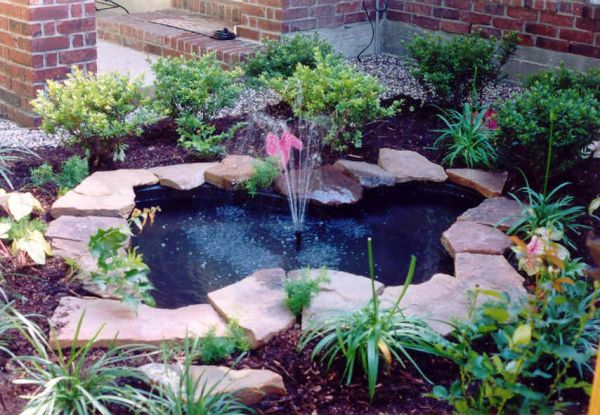 outdoor water fountain garden pond small backyard ponds - Bing Images | Ideas for the outside
