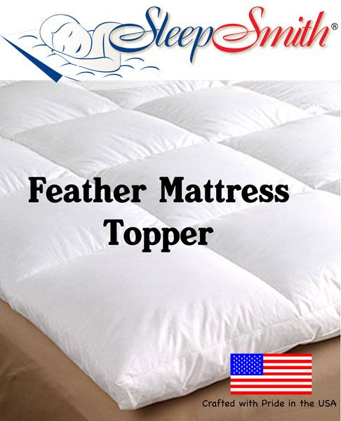 Cot Bed Feather Mattress Topper