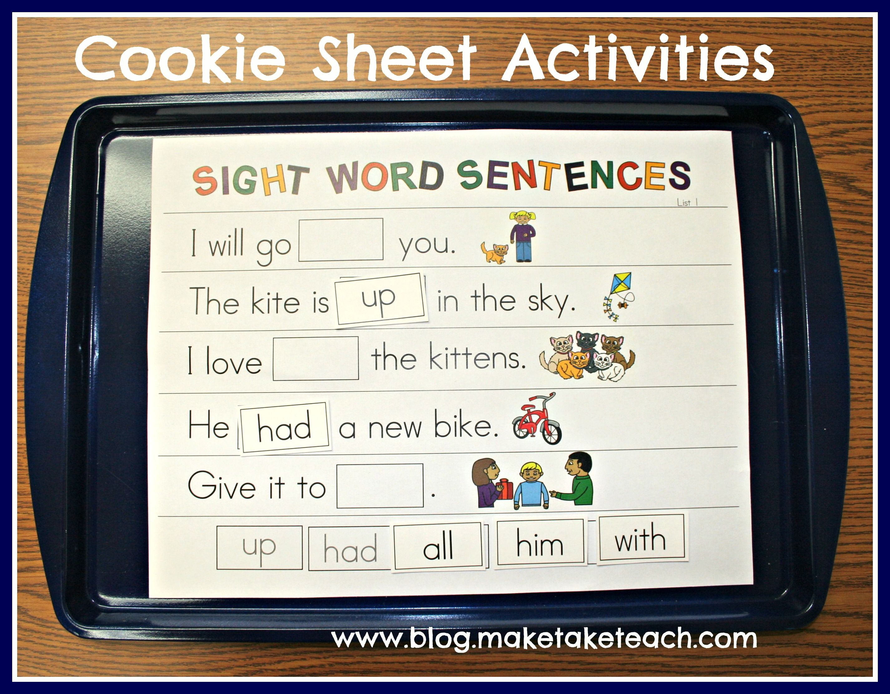 Cookie Sheet Challenge Volume 3 Sight Words