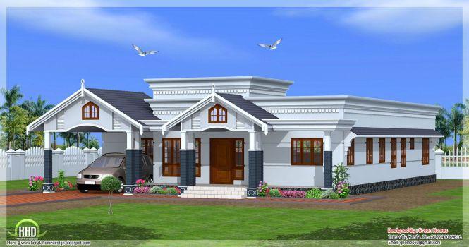 4 Bedroom Single Floor Kerala House Plan In 2750 Square Feet By Green Homes Thiruvalla