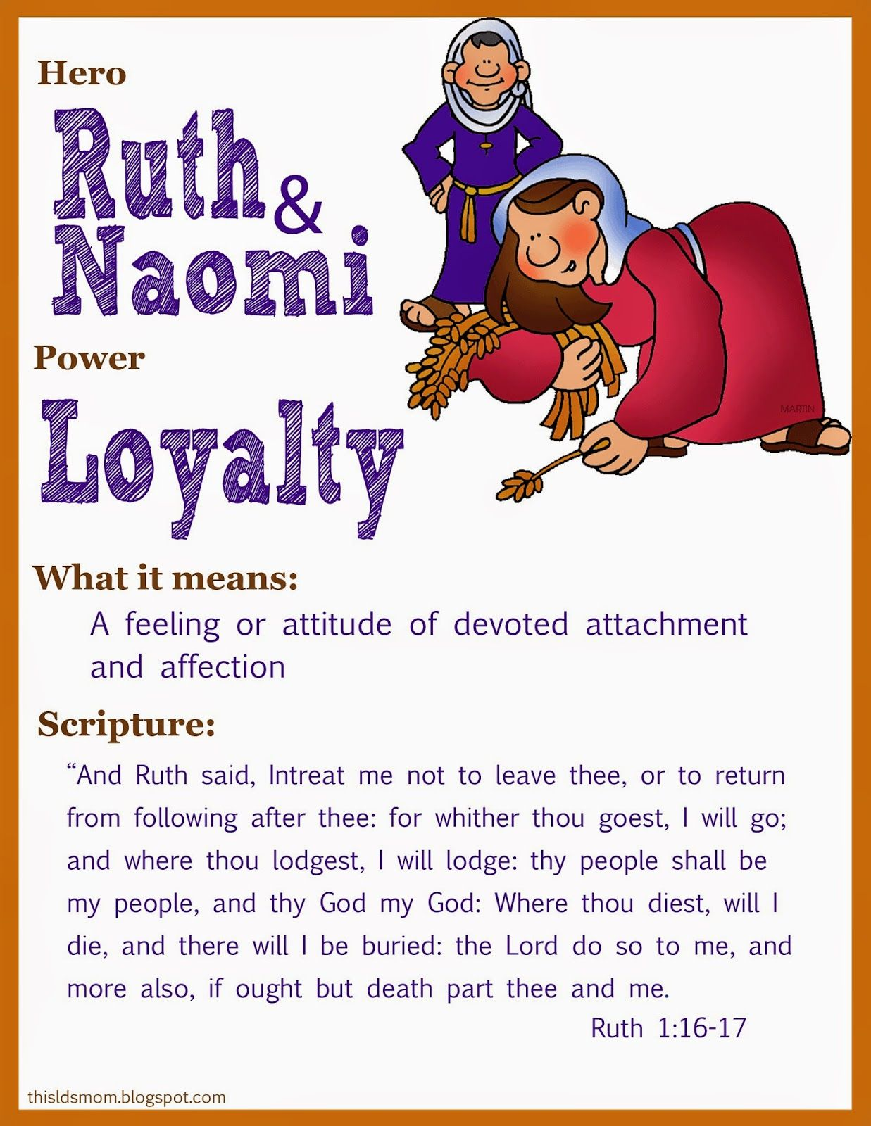 This Lds Mom Scripture Heroes Ruth Amp Naomi